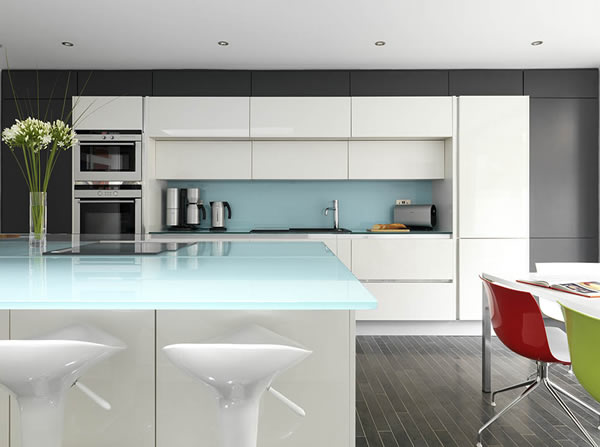 glass worktop