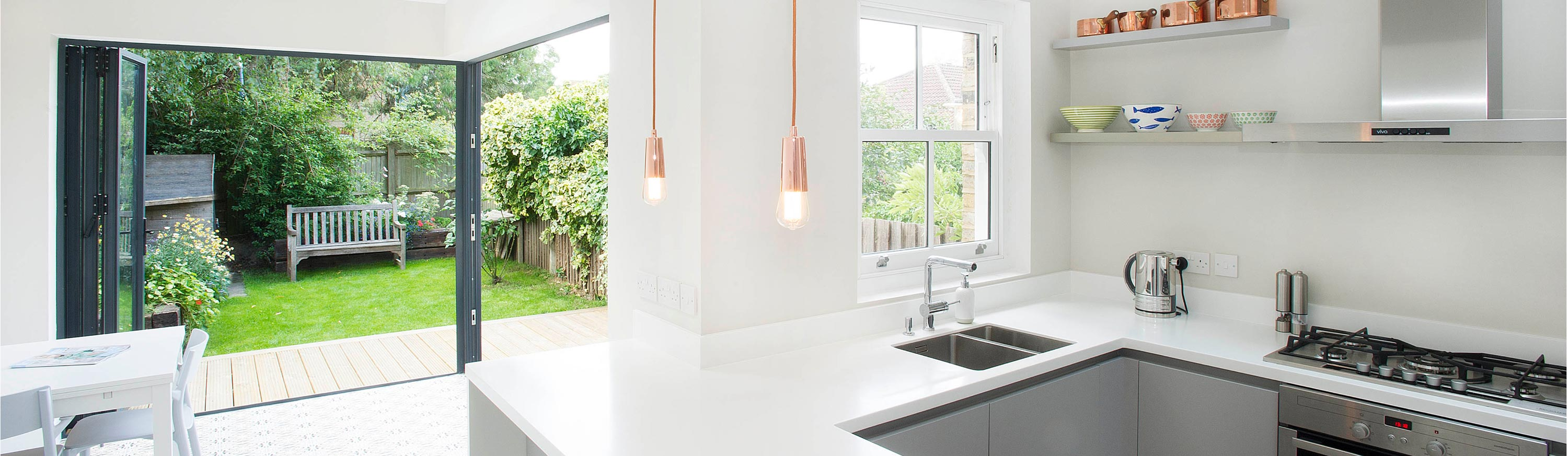 A picture of a kitchen extension