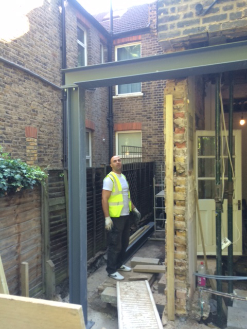 Another steel box frame goes in at Alexandra Road W4