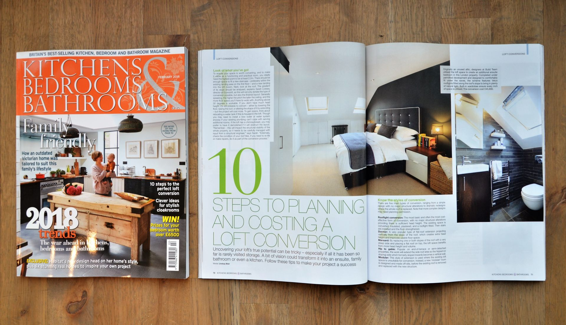 Build Team Feature in KBB Magazine