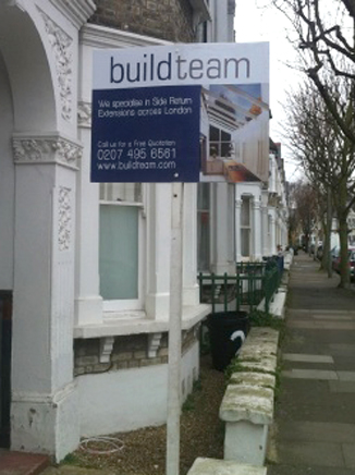 Build Team go on site on Longbeach Road, Battersea SW11