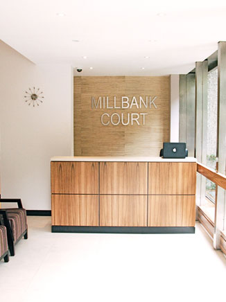Millbank Court reception is completed