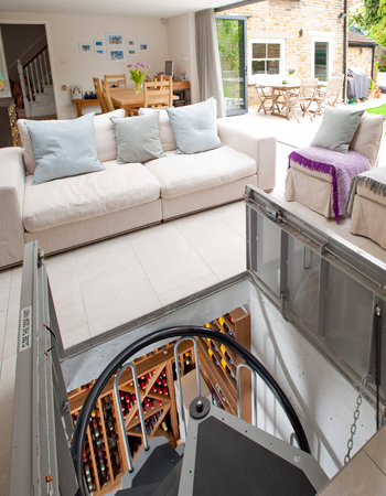 Side Return with sunken Wine Cellar
